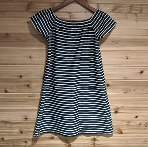 Madewell Off the Shoulder Striped Dress